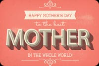 Mothers day email stationery. To The Best Mother