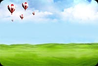 Air Balloons On A Clear Day Stationery, Backgrounds