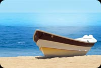 Boat By The Beach Stationery, Backgrounds