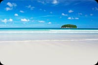 Nature email stationery. White Sand And Blue Skies