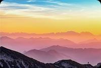 Sunset Sky Mountain Stationery, Backgrounds