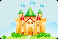 Nature email stationery. A Castle With Flags