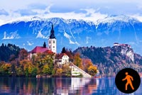 Animated Lake Bled Slovenia Stationery, Backgrounds