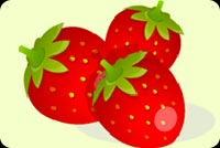 Vibrant Red Strawberries Stationery, Backgrounds
