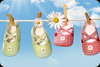 Tiny Baby Shoes To Dry Stationery, Backgrounds