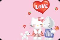 Hello Kitty Gets A Kiss Stationery, Backgrounds