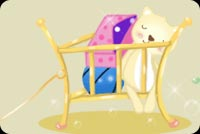 Sleeping Like A Baby In A Crib Stationery, Backgrounds