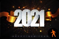Animated New Year Eve Night Firework Stationery, Backgrounds