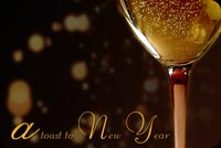 Champagne For The New Year Stationery, Backgrounds
