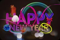 Colorful New Year Greeting Stationery, Backgrounds