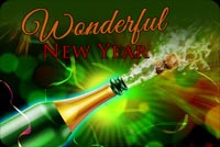 A Wonderful New Year Stationery, Backgrounds