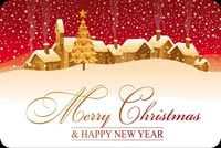 Merry Christmas & Happy New Year Stationery, Backgrounds