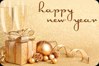 Happy New Year Present Stationery, Backgrounds