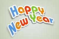 New year email stationery. Nice Font Happy New Year