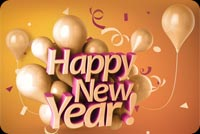Golden New Year Stationery, Backgrounds