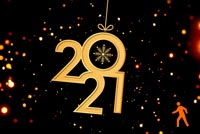 Animated Happy New Year 2021 Stationery, Backgrounds