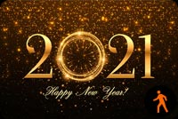 Animated Happy New Year Fireworks 2021 Stationery, Backgrounds
