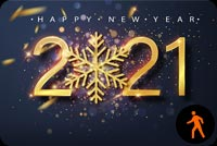 Animated New Year Eve 2021 Fireworks Stationery, Backgrounds