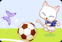 Sports email stationery. Cat Plays Football