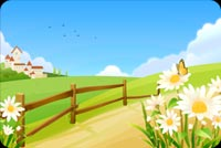 Flowers Along The Countryside Stationery, Backgrounds