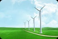 Windmills And Green Grass Stationery, Backgrounds