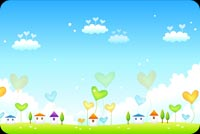Lovely And Colorful Spring Setting Stationery, Backgrounds