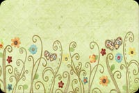 Spring email stationery. Colorful Flowers, Butterflies And Swirls