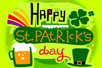 St patricks day email stationery. On St. Patrick's Day!
