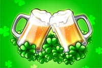 St patricks day email stationery. Beers & Lucky Clovers