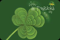St patricks day email stationery. Green Clover For St Patrick's Day
