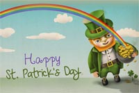 St patricks day email stationery. Leprechaun Wishes St. Patrick's Day