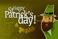 St patricks day email stationery. Irish Man Wishing You Happy