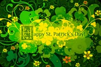 St Patrick's Day Florals Stationery, Backgrounds