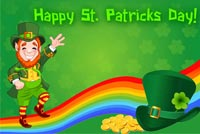 Leprechaun Happy St Patrick's Day Stationery, Backgrounds