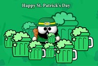 Leprechaun Drinking Beers Stationery, Backgrounds