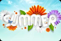 Summer email stationery. Flowers Are Bloom This Summer