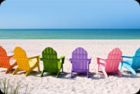 Summer email stationery. Colorful Seats For The Summer