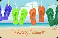 Flip Flops For The Summer Stationery, Backgrounds