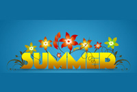 Summer email stationery. Nice Summer Background