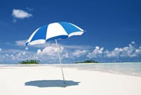 Blue Umbrella Summer Beach Stationery, Backgrounds