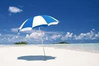 Blue Umbrella Summer Beach Stationery, Backgrounds