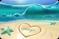 Summer Love, Heart On Sand Stationery, Backgrounds