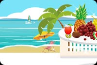 Summer email stationery. Fresh Fruits For The Summer