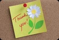 Thank you email stationery. Thank You With A Flower