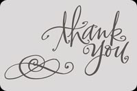 Thank You With Swirls Stationery, Backgrounds