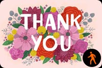 Thank You Card By Hallmark Stationery, Backgrounds