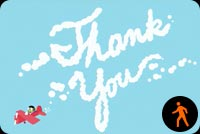 Sky Writing Thank You By Pbs Kids Stationery, Backgrounds