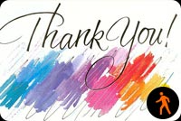 Colorful Thank You Stationery, Backgrounds