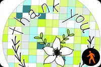 Thank You Flower Stationery, Backgrounds