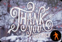 Winter Thank You Very Much Stationery, Backgrounds